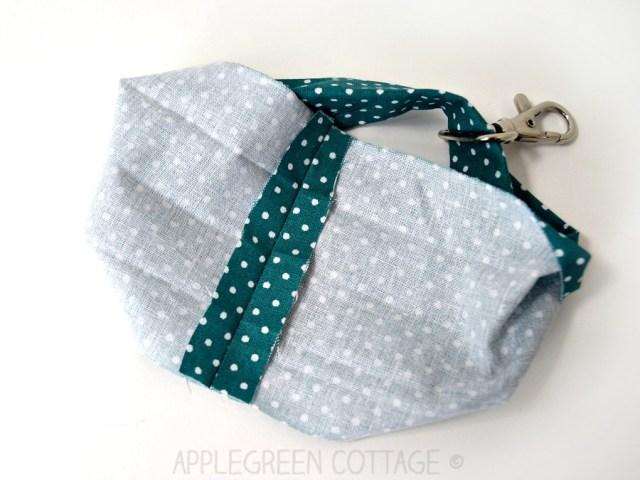 sewing a wristlet strap