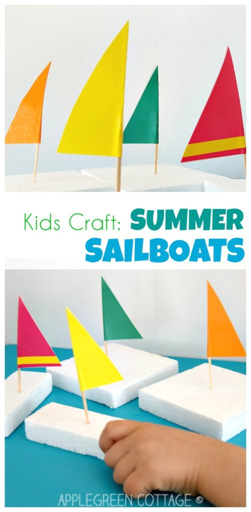 Sailboat Craft – Easy Kids Activities