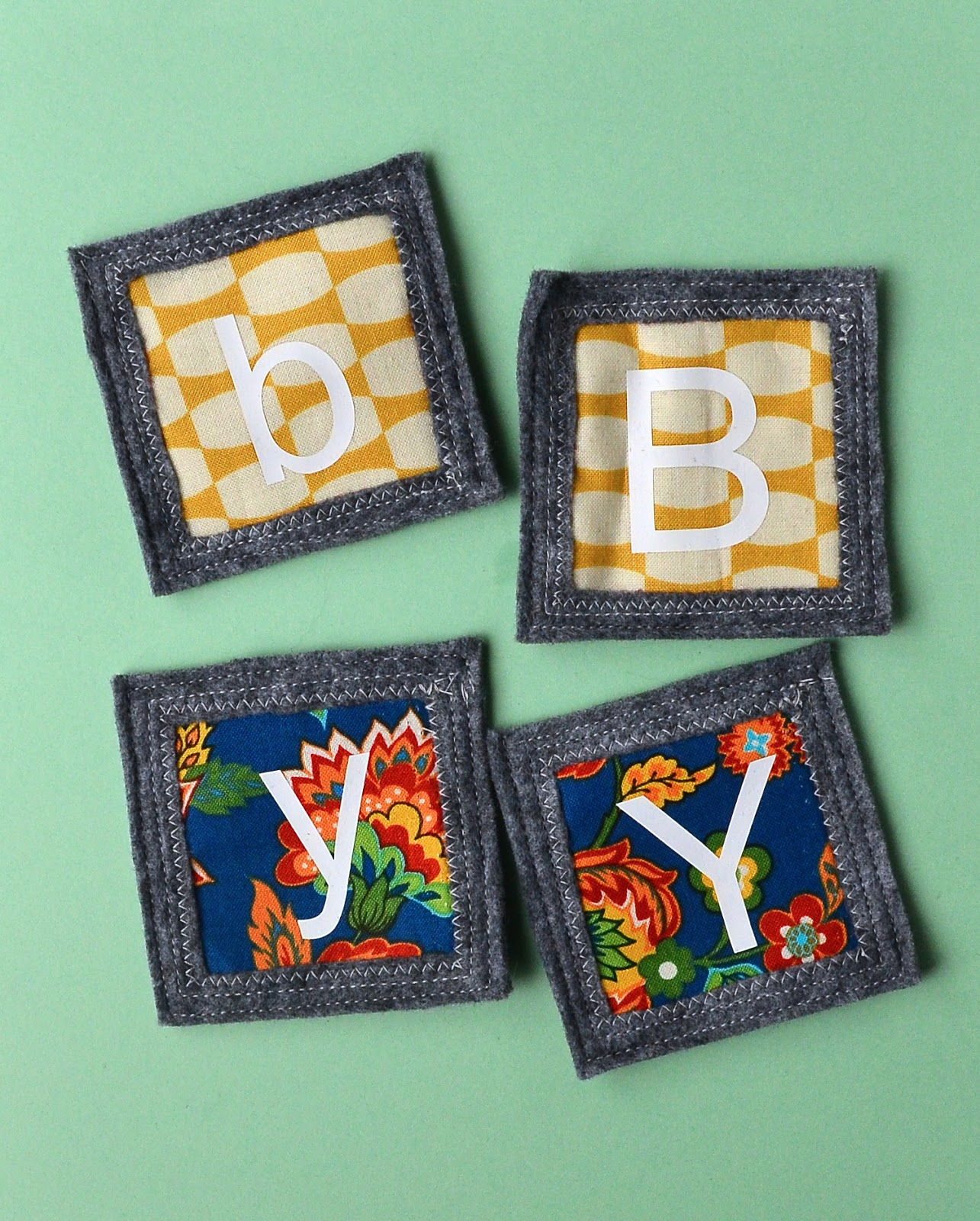 alphabet memory game to sew
