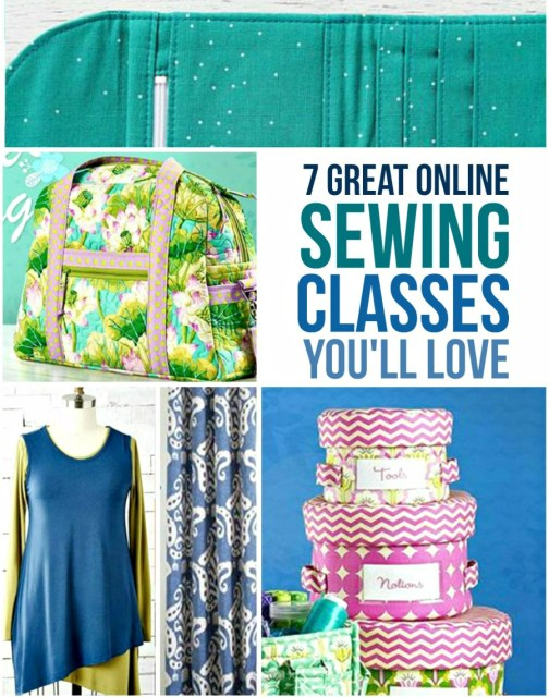 7 online sewing classes you'll love.