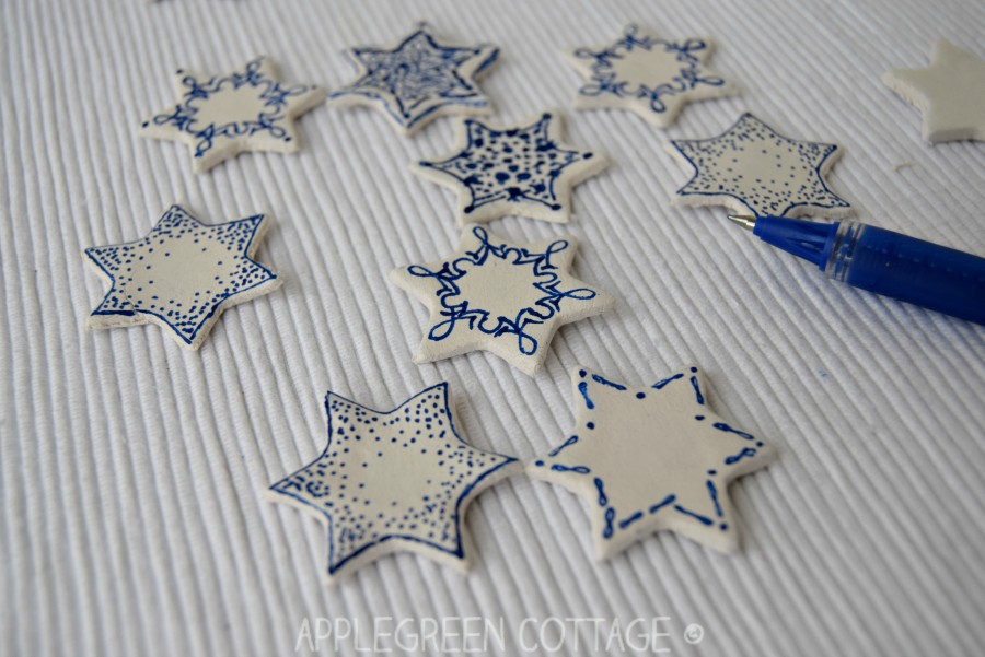 air dry clay christmas card decorations