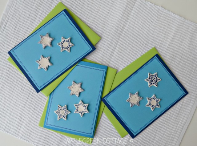 air dry clay on Christmas cards