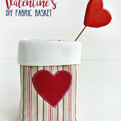 diy valentine basket pattern