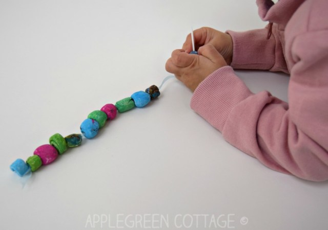 Learn how to make a diy bracelet out of air dry clay. A great diy gift kids can make for mother's day, too.