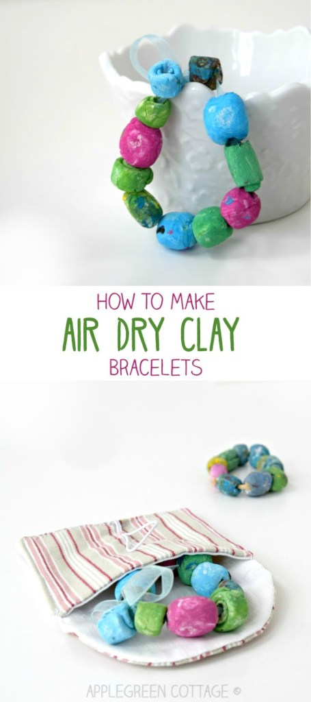 Air Dry Clay Bracelet – Mother's Day Diy