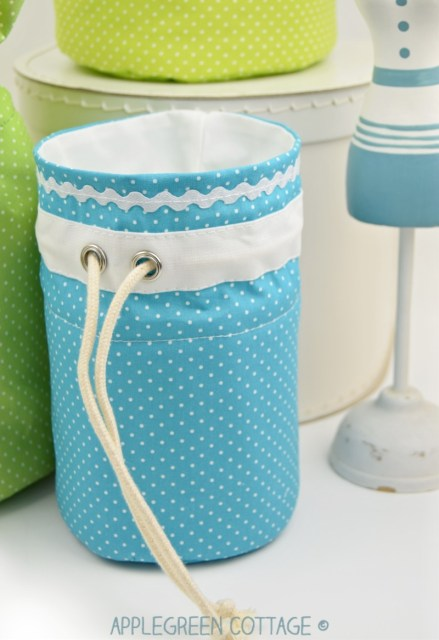 round fabric basket - perfect home decor for spring