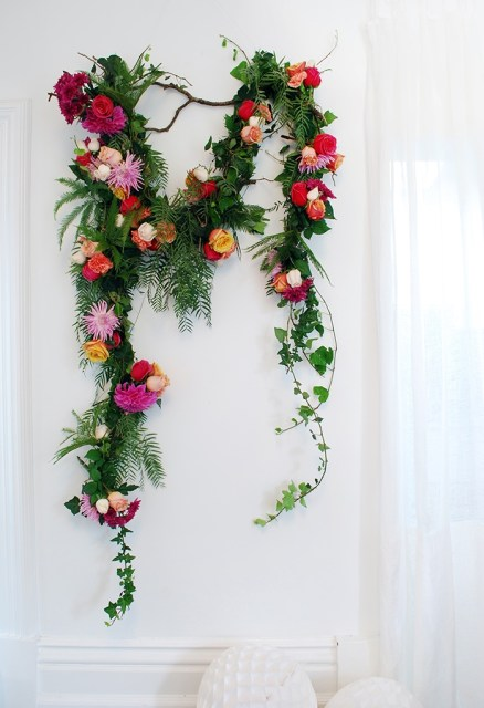diy floral garland to make