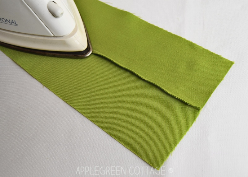 ironing to press a french seam