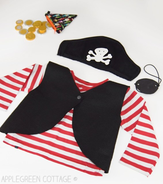 diy pirate costume for kids with free pattern