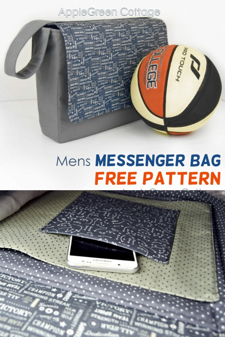 free pattern for mens messenger bag
