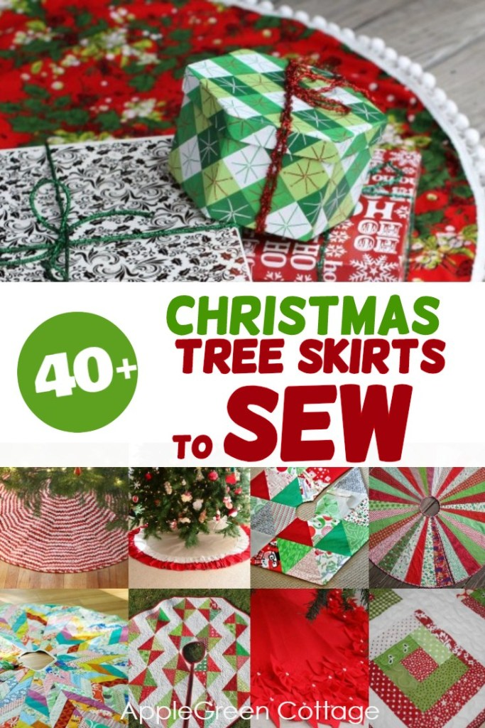 40+ Christmas Tree Skirt Pattern Ideas To Sew