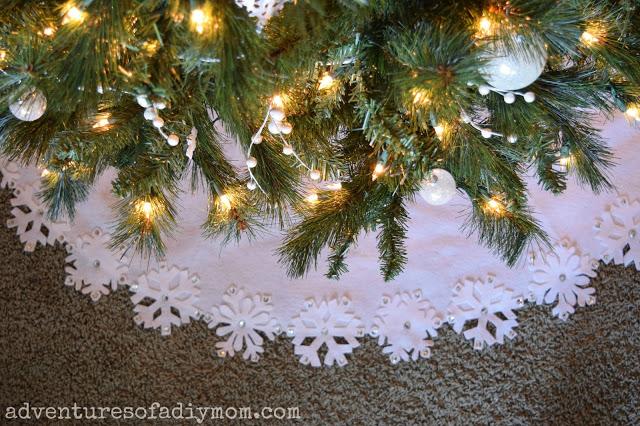 no-sew holiday tree skirt