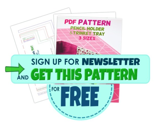 Pencil holder free pattern