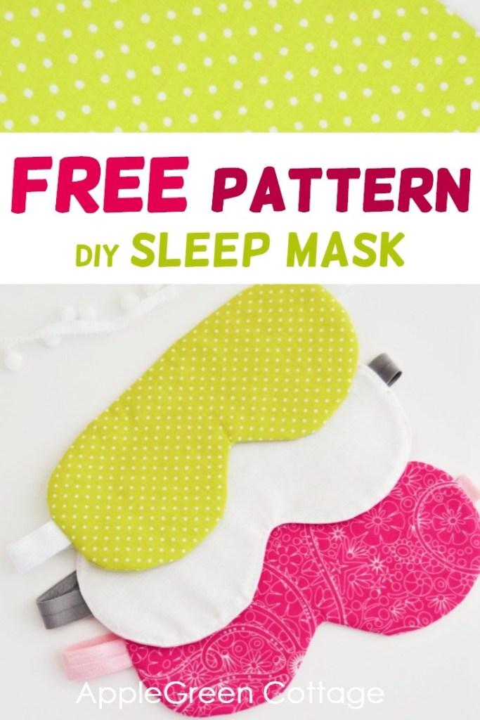 Diy Sleep Mask – Free Pattern