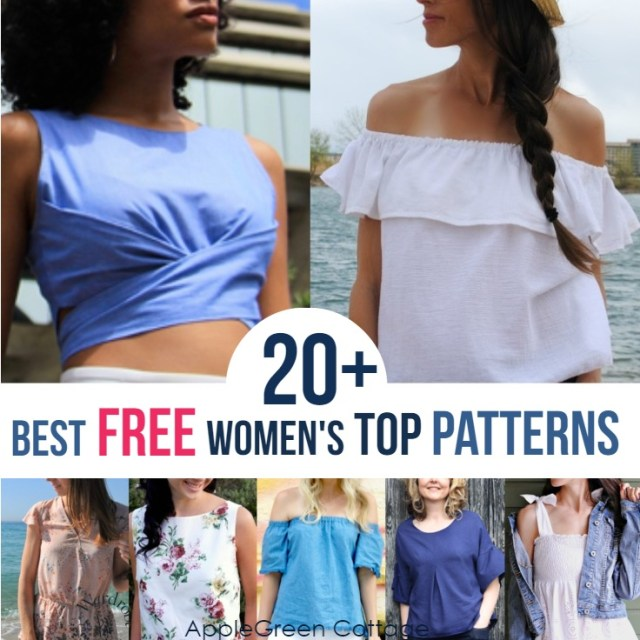 free sewing patterns tops
