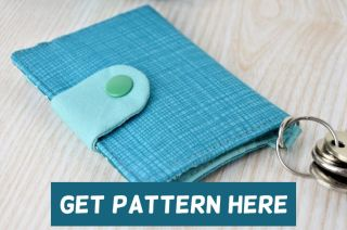 Wallet sewing pattern with flap