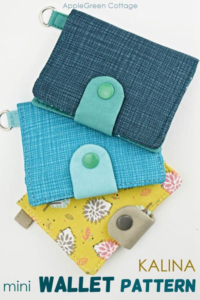 Wallet Sewing Pattern – Kalina Mini