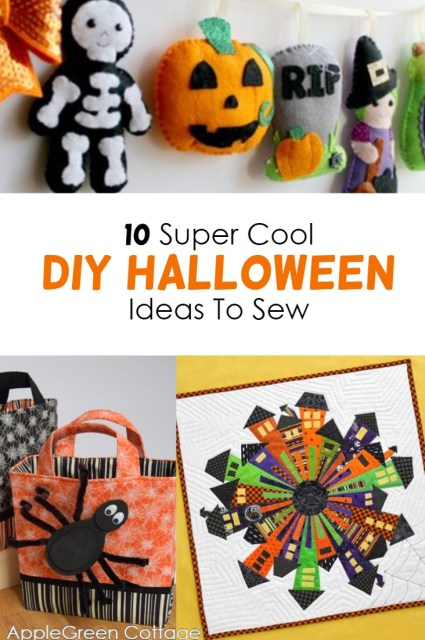 Halloween ideas to sew. Check out these 10 super cool Halloween sewing ideas and make something new!