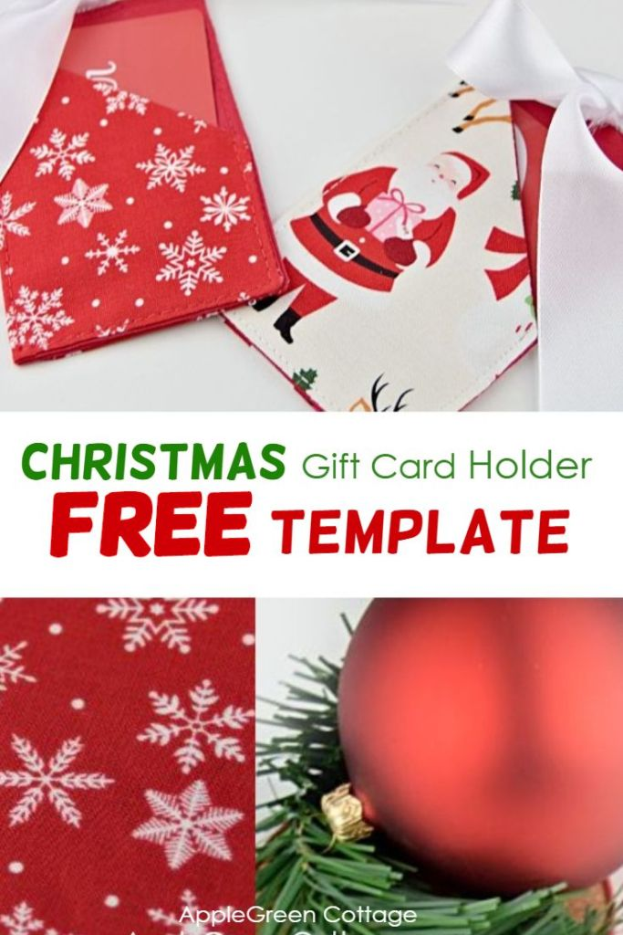 Christmas Gift Card Holder – Free Template