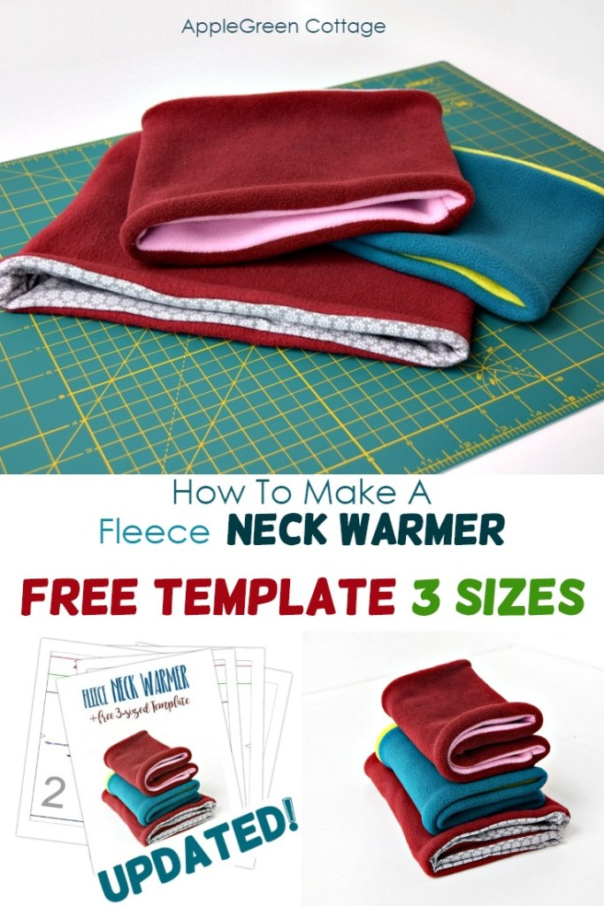 how to sew a fleece neck warmer