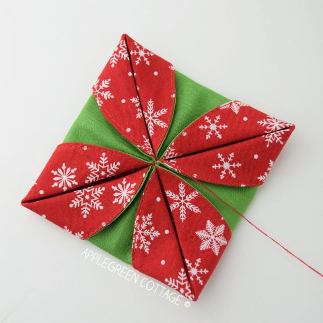 diy folded ornament