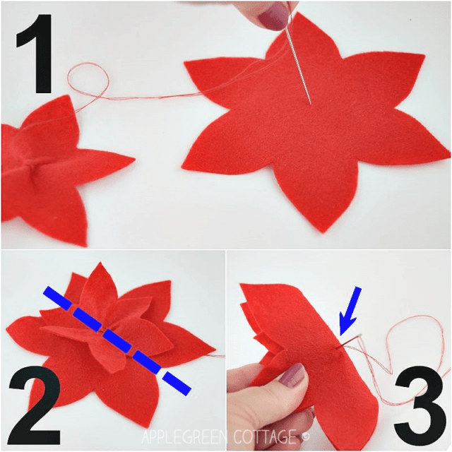 christmas tree poinsettia decorations