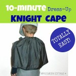 10-Minute DIY KIDS Knight Cape