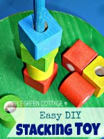 How To Make an Easy DIY Wooden Stacking Toy
