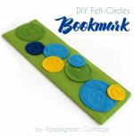 Felt Circle Applique Bookmarks Tutorial