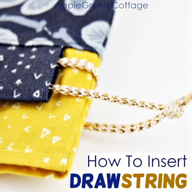 how to string a drawstring bag