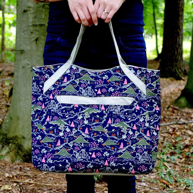 blue shopper bag pattern