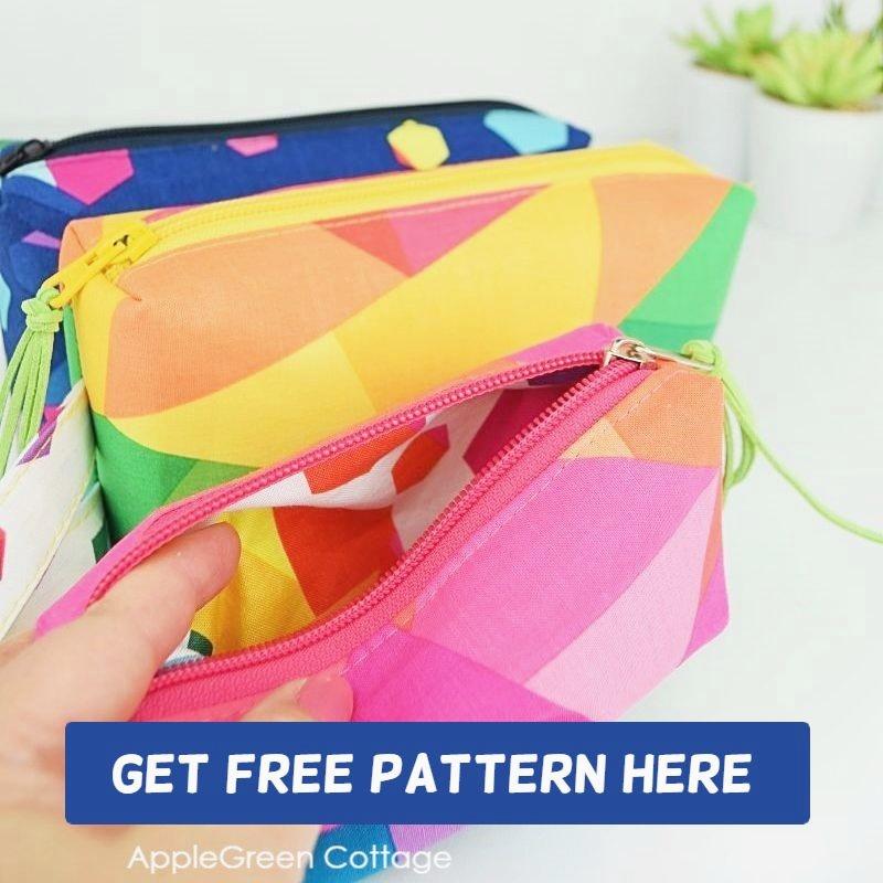 free zipper pouch pattern