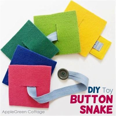 felt button snake