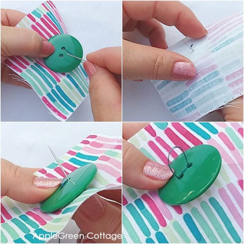 how to sew buttons by hand