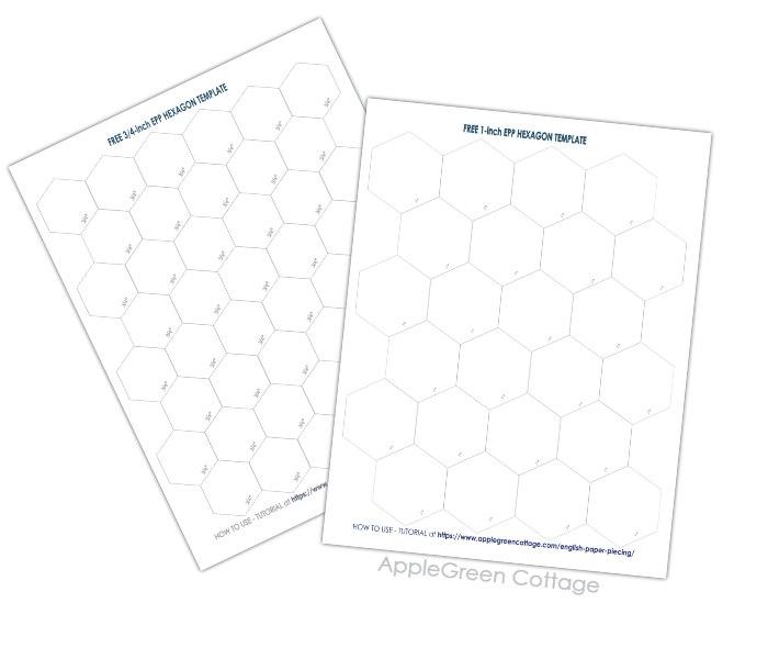 template for hexagon