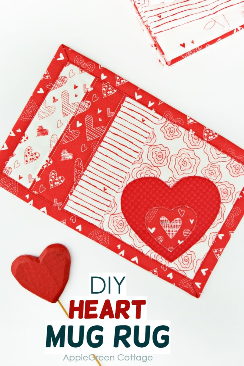 Valentine Mug Rug - DIY Sewing Tutorial
