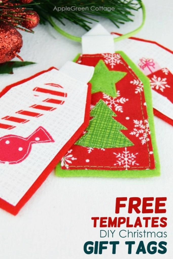 Diy Christmas Gift Tags – Free Sewing Templates