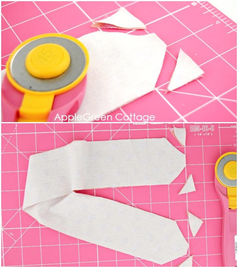 cutting fabric for headband