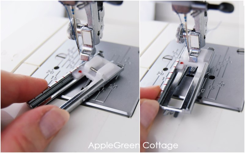 how to attach a buttonhole foot