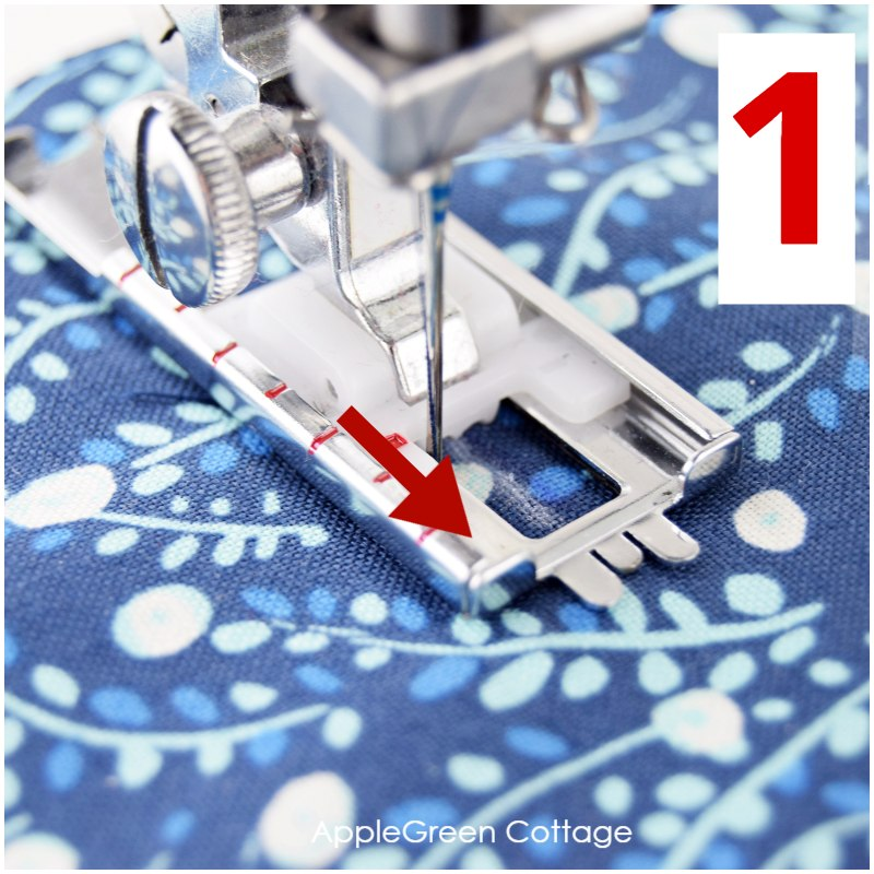 sewing a buttonhole in 4 steps