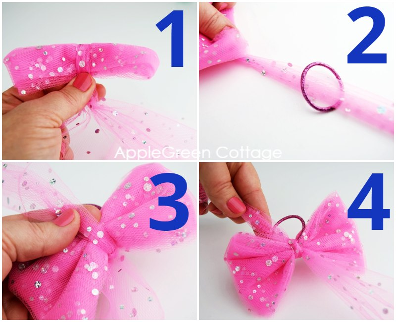 how to make bows out of tulle