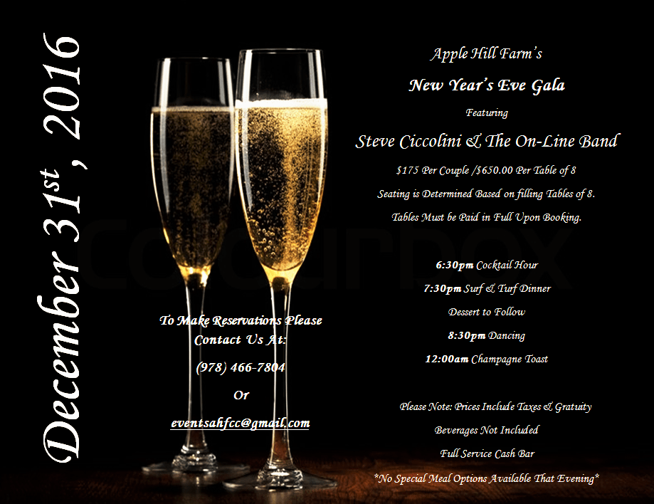 Apple Hill Farm & Country Club's New Years Eve Gala