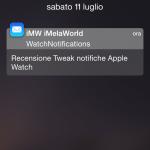 WatchNotifications, come ricevere le notifiche su iPhone in stile Apple Watch