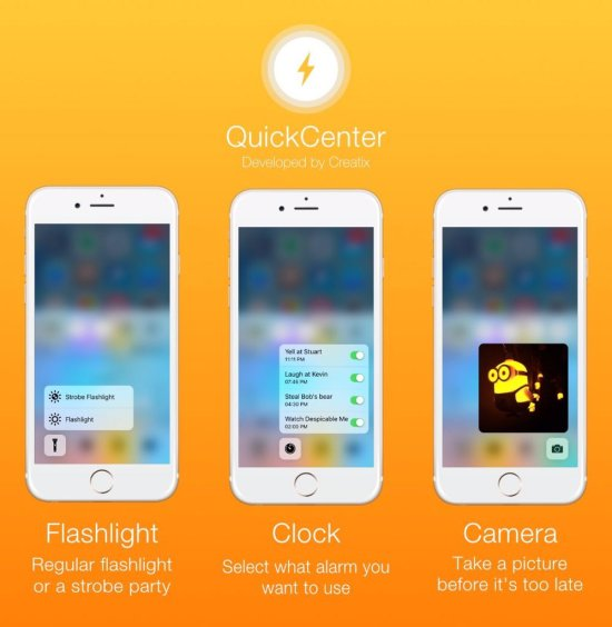 QuickCenter, come avere i menu 3D Touch all'interno del Centro di Controllo_2