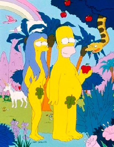 Adan y Eva Simpsons