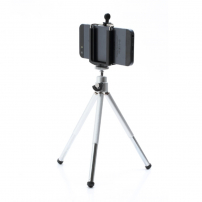 Hliníkový stativ / tripod s teleskopicky výsuvnuvými nohami pro Apple iPhone - stříbrný