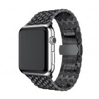Elegantní ocelový nerezový řemínek pro Apple Watch 44mm / Watch 42mm - černý