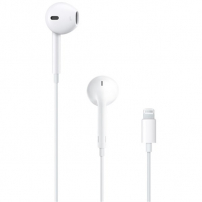 Originální Apple EarPods sluchátka s mikrofonem a lightning konektorem pro Apple iPhone / i Pad - bílá