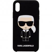 Karl Lagerfeld Full Body Iconic silikonový kryt pro iPhone X / XS - černý