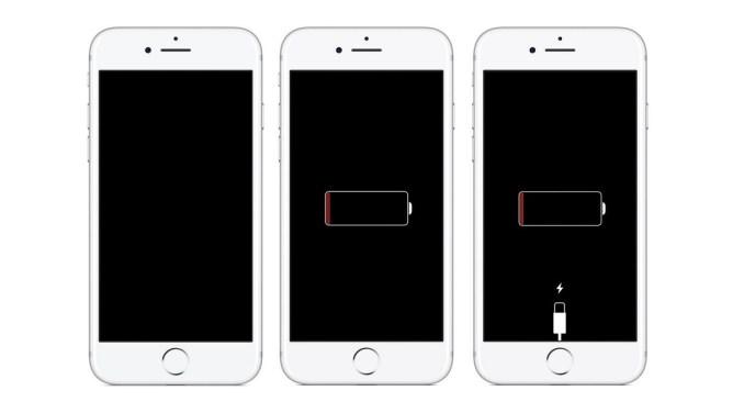 Negru blocat ecran iPhone